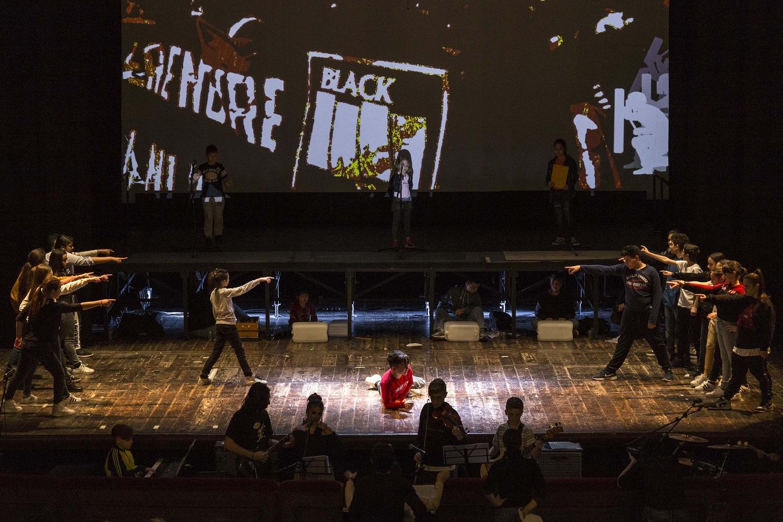"""Prove dello spettacolo """"Arrevuoto"""". Teatro San Ferdinando, Napoli 9 Maggio 2019."""