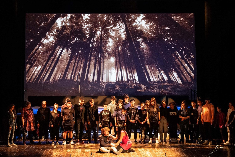Prove dello spettacolo Arrevuoto al teatro San Ferdindando di Napoli