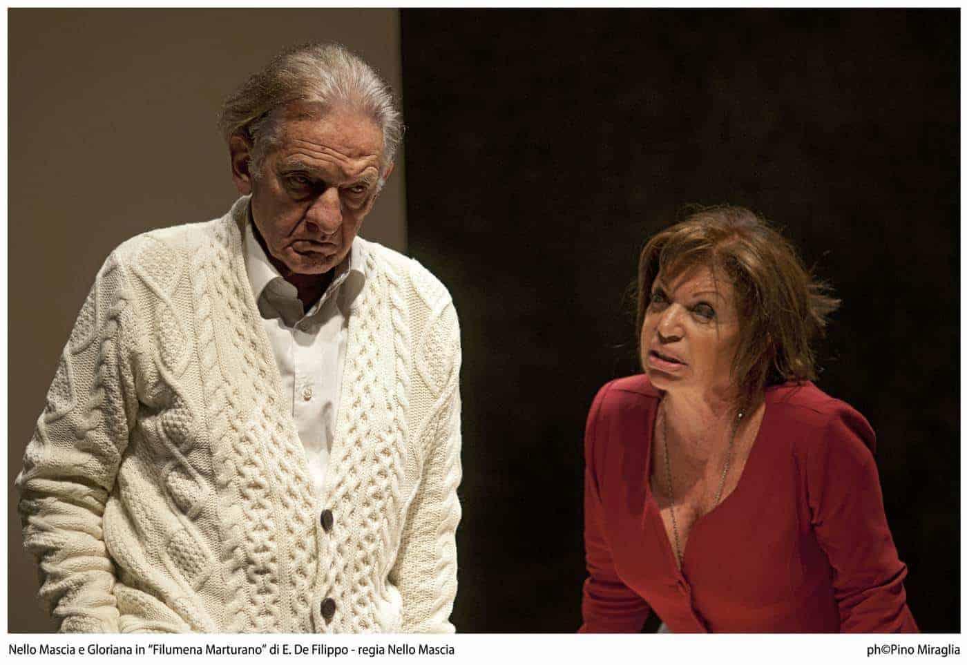 """Gloriana e Nello Mascia in """"Filumena Marturano""""- regia Nello Mascia"""