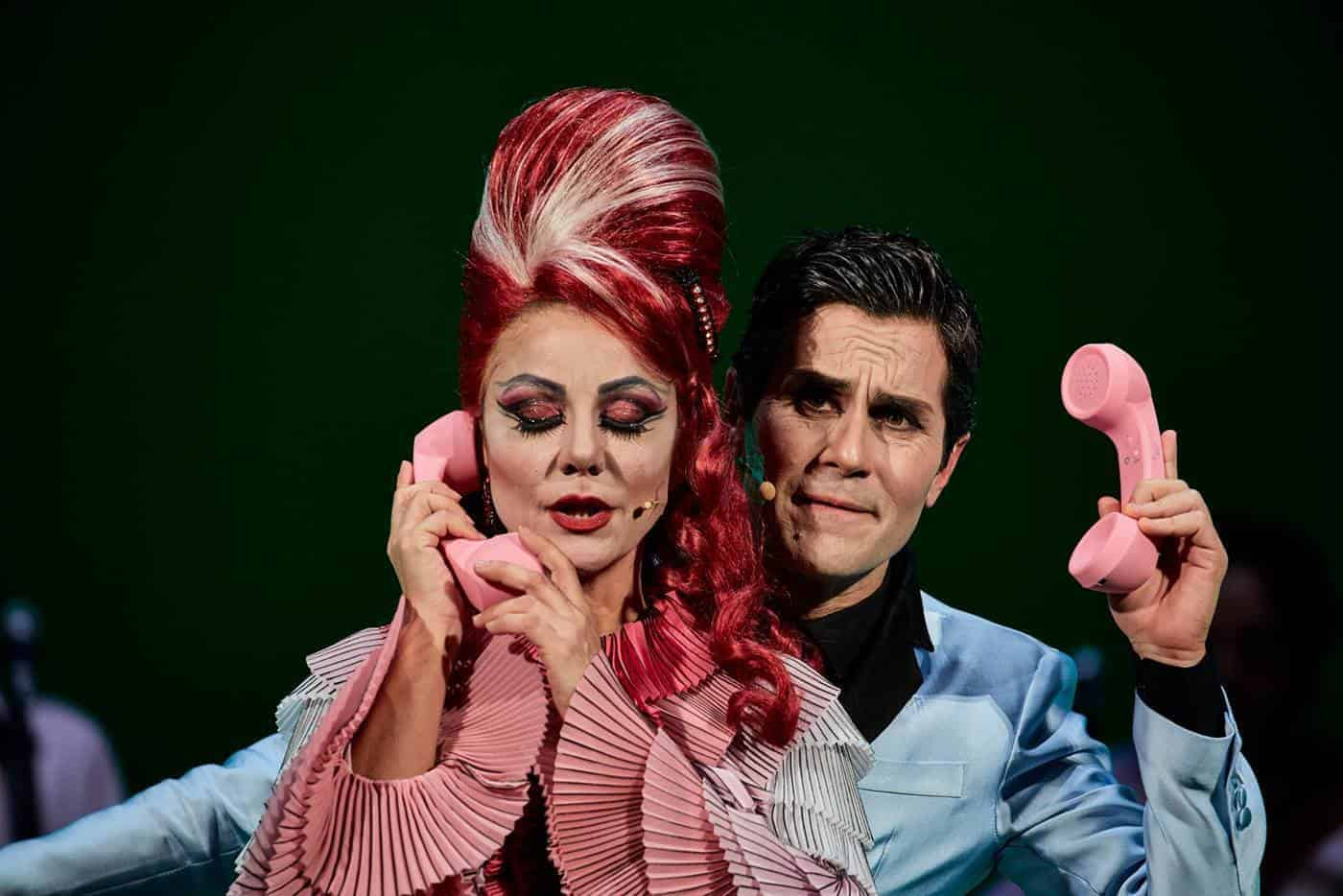 Gaia Aprea e Gianluca Musiu in Madame Pink regia Alfredo Arias foto Giovanni Ambrosio (2)