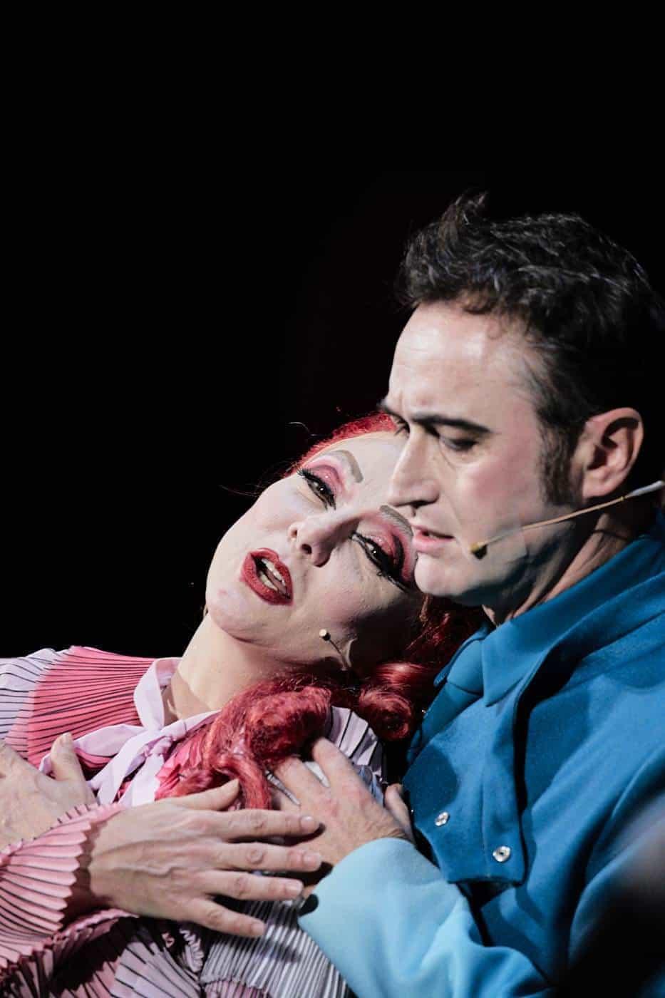 Mauro Gioia e Gaia Aprea in Madame Pink foto Giovanni Ambrosio