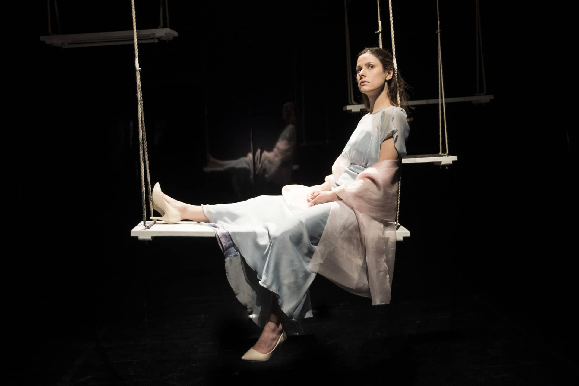 Federica Sandrini in Signorina Else regia Alberio Oliva foto marco ghidelli